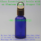 30ml empty Cobalt blue essential oil glass dropper bottle