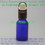 Cobalt blue essential oil glass dropper bottle 15ml