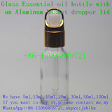 20ml 0.67oz Transparent glass bottle,essential oil glass dropper bottle